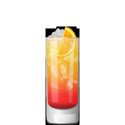 Garibaldi Spritz cocktail with Campari, orange juice, and prosecco