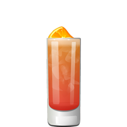 Garibaldi cocktail with Campari and orange juice