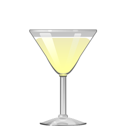 Yellow cocktail with foam