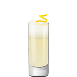 Gin Fizz cocktail with gin, lemon juice, simple syrup, and egg white
