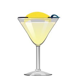 Gin Sour cocktail with gin, lemon juice, and simple syrup