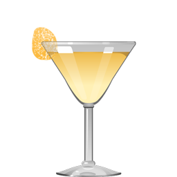 Gingerly cocktail with ginger liqueur, genever, apple brandy, lemon juice and Maraschino