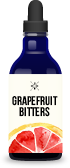 Bottle of grapefruit bitters for cocktail recipes