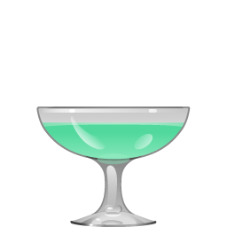 Grasshopper with creme de cocoa and mint liqueur