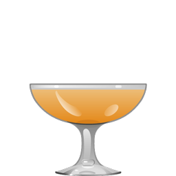 Honeymoon cocktail with apple brandy, orange curaçao, Bénédictine, and lemon juice