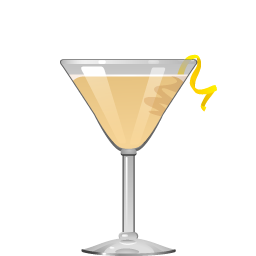 Hoop La cocktail with cognac and apricot liqueur