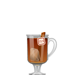 Hot Toddy cocktail with tea and bourbon