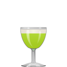 Insanely Good Midori Sour cocktail with Midori melon liqueur, gin, lemon juice, lime cordial, and egg white