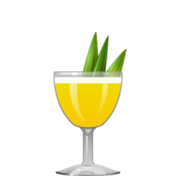Isla de Piña tropical sour with aged white rum, pineapple liqueur, allspice dram, passion fruit puree, and lime juice