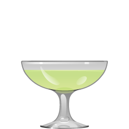Jamaican Ten-Speed cocktail with melon liqueur and cream