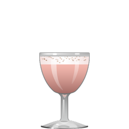 Josephine Baker cocktail with cognac, port, apricot liqueur, a whole egg, simple syrup, and lemon peel