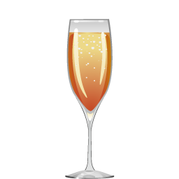 Kir Royale cocktail with sparkling wine and creme de cassis