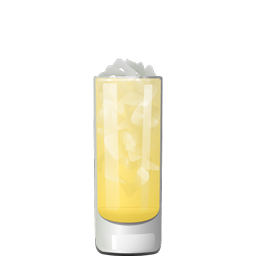 Laid Back cocktail with gin, apple vodka, pineapple juice, and club soda