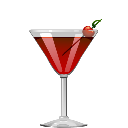 Left Hand cocktail with bourbon and Campari