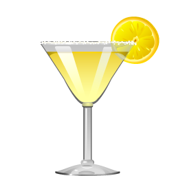 Lemon Drop cocktail with citrus vodka and triple sec