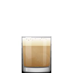 Lite Treason cocktail with mezcal whipped cream, vodka, coffee liqueur, and Cynar