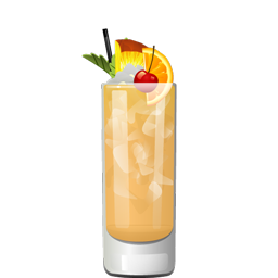 Lost Lake cocktail with rum and passion fruit syrup