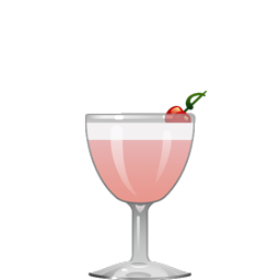 Lusty Lady cocktail with gin, egg white, lime juice, simple syrup, cranberry juice, and lavender bitters