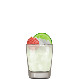 Lychee Lani cocktail with light rum, coconut rum, lychee syrup, lime juice, and orgeat