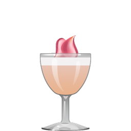 Magnificent Lady cocktail with gin, lychee liqueur, lemon juice, rose syrup, and egg white