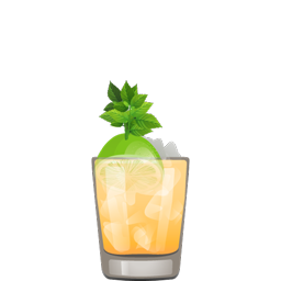 Mai Tai cocktail with rum and orange curaçao