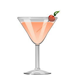 Maiden's Blush cocktail with gin and triple sec