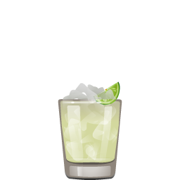 Margarita cocktail with tequila and lime juice