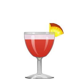 Million Dollar cocktail with gin, sweet vermouth, pineapple juice, grenadine, and egg white