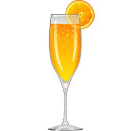 Mimosa cocktail with sparkling wine and triple sec