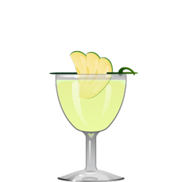 Mint Apple Crisp cocktail with fresh green apple, simple syrup, mint, apple vodka, and sake