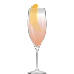 Moonwalk cocktail with rose water and sparkling wine