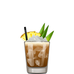 Mr. Bali Hai tropical cocktail with dark rum, light rum, coffee liqueur, pineapple juice, lemon juice, and simple syrup