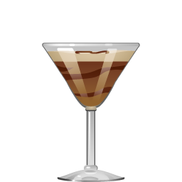 Mudslide cocktail with vodka and coffee liqueur