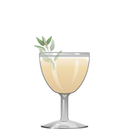 Mystical One cocktail with sage, cinnamon syrup, bourbon, and lime juice
