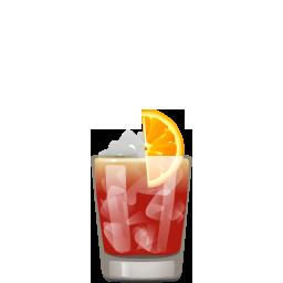 Negroni Sbagliato cocktail with Campari and sparkling wine