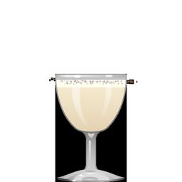 Nigori Milk Punch cocktail with nigori sake, cognac, Navan vanilla liqueur, and bitters