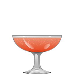 Noce Royale cocktail with gin, sloe gin, walnut liqueur, and sparkling wine