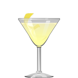 Oh, Gosh! cocktail with light rum, triple sec, lime juice, simple syrup, and club soda