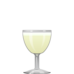 Old Flame cocktail with gin, lemon juice, simple syrup, egg white, and green Chartreuse