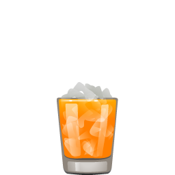 Orange Crush cocktail with vodka and citrus rum