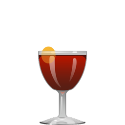 Palo Negro cocktail with tequila, sherry, blackstrap rum, orange curaçao, and brown sugar syrup
