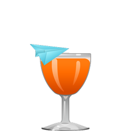 Paper Plane cocktail with bourbon, Amaro Nonino, Aperol, and lemon juice