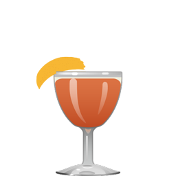 Papercut sour cocktail with gin, Campari, grapefruit juice, and ginger syrup