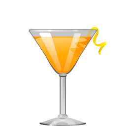 Paradise cocktail with gin and apricot liqueur