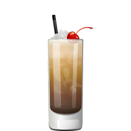 Paralyzer cocktail with vodka, Kahlua, cola, and heavy cream