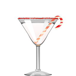 Peppermint Stick cocktail with creme de cocoa and mint liqueur