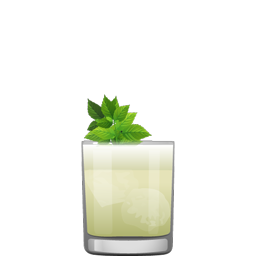 Piña Verde blended cocktail with Green Chartreuse and cream of coconut