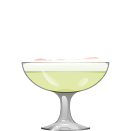 Pisco Sour cocktail with lemon juice and egg white