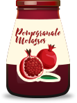 Jar of pomegranate molasses, an ingredient for cocktails