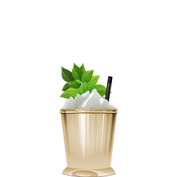 Prescription Julep with cognac and rye whiskey